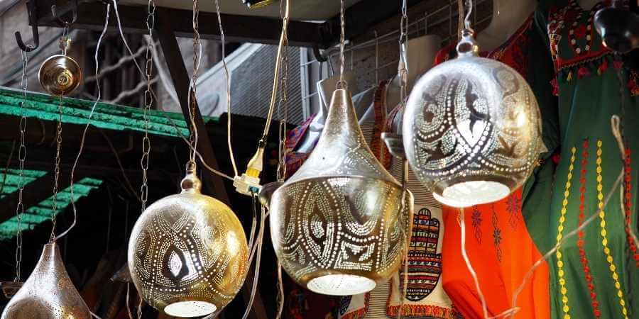 lamparas de techo egipcias